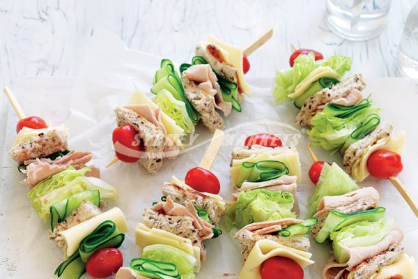 LETTUCE, CUCUMBER & TURKEY SKEWER SANDWICHES