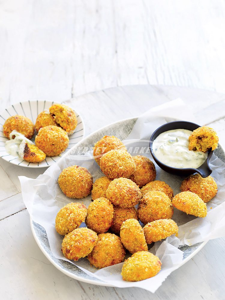 CHEESY ZUCCHINI AND CARROT 'NUGGETS'