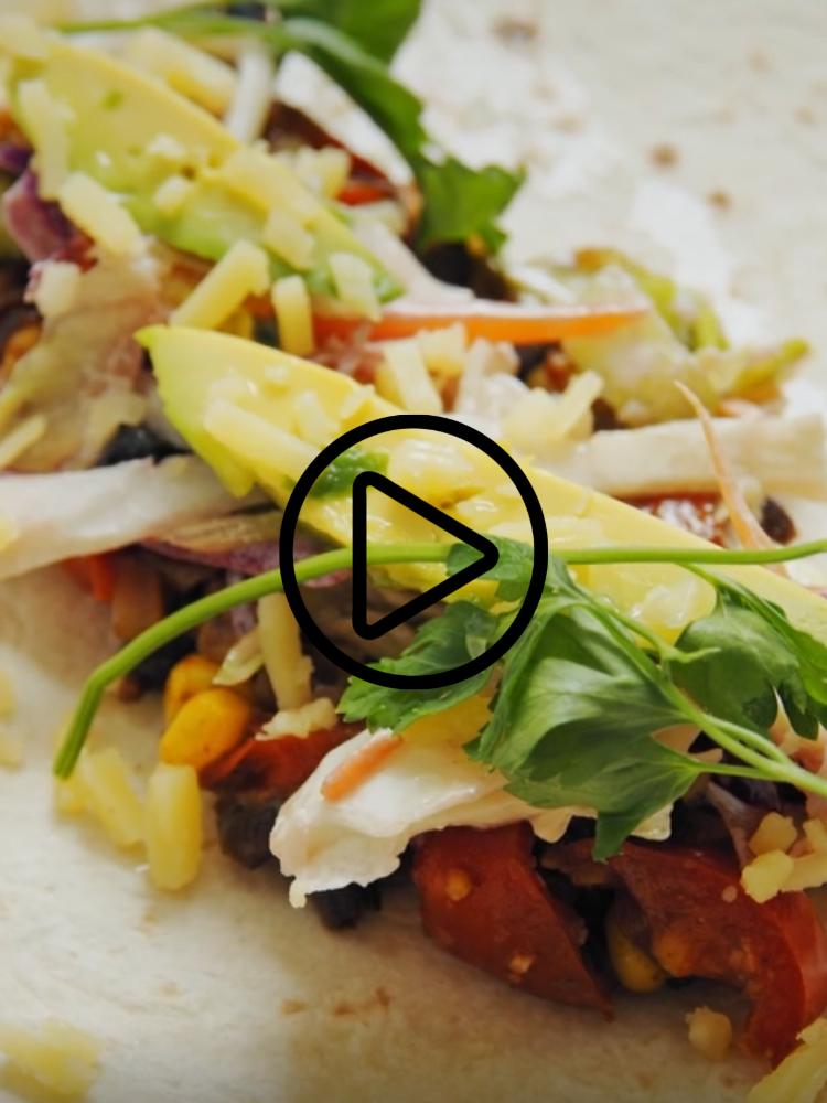 Vegan Tacos with Apple Slaw